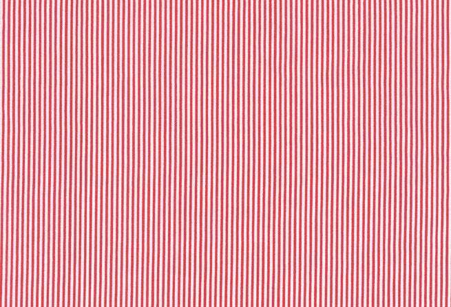 Pinstripe Print Fabric - half meter -59in wide -100% cotton - red on white -