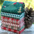 Festive Christmas Tree fabric - half meter - 100% Cotton - forest green red -