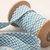 Mid Blue and White check Bias Binding - Sold by meter - craft quilting sewing