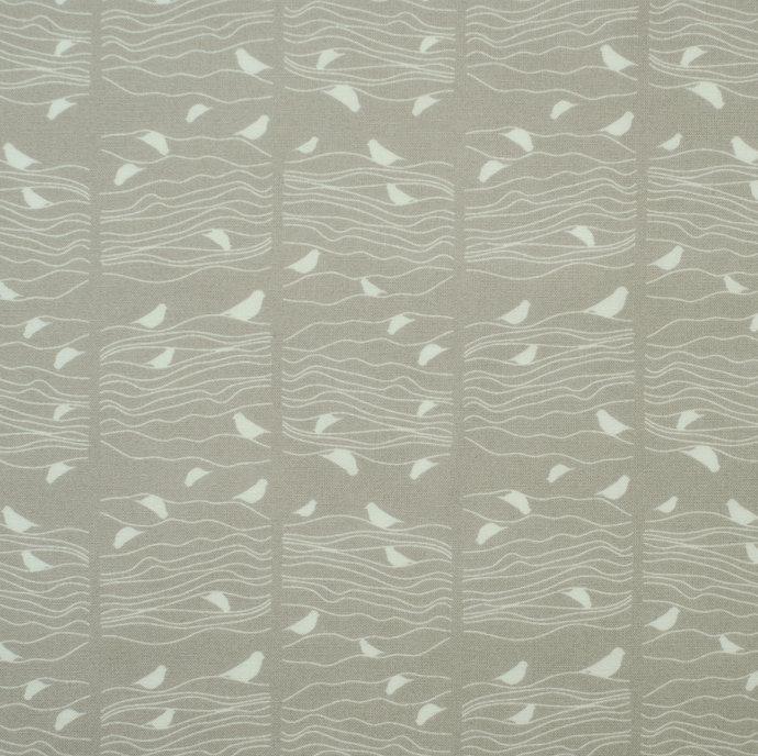 Pretty fat quarter fabric bundle Seigaiha & birds - 100% cotton - denim blue