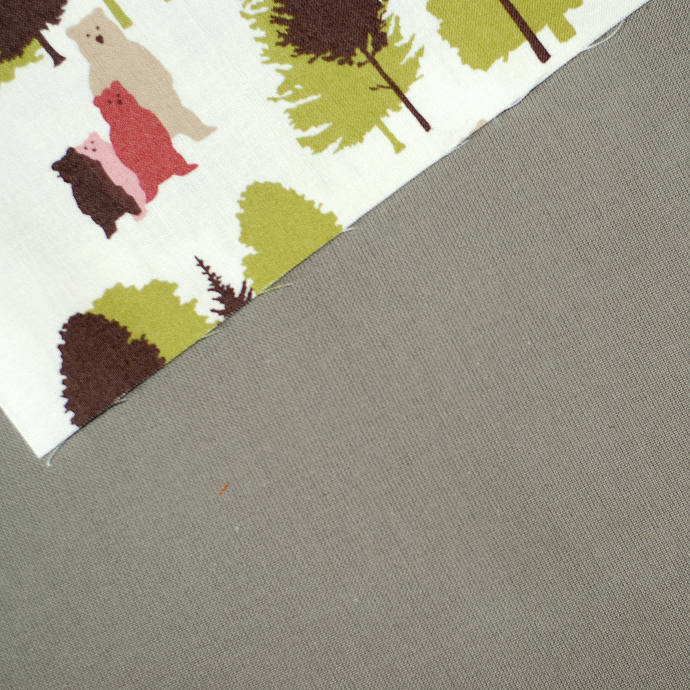 Taupe woven fabric - half meter - 100% Cotton - extra wide 62 inches - dark