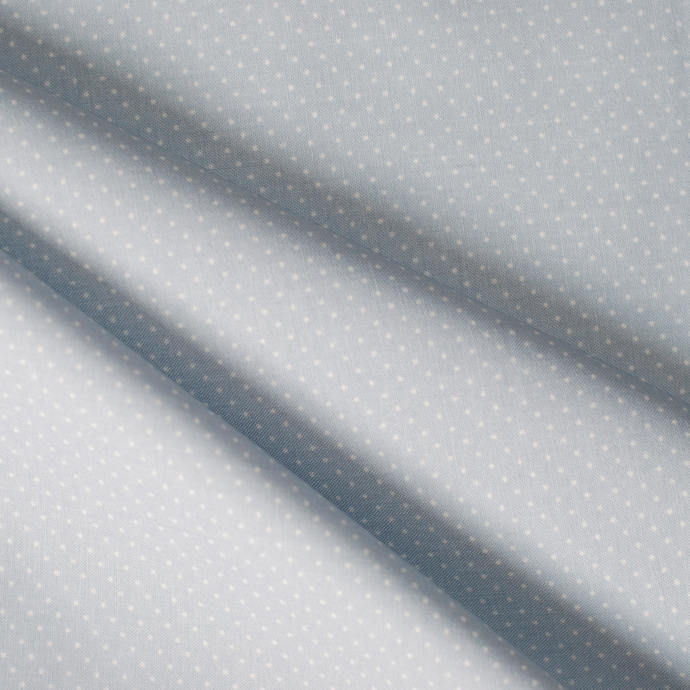 Soft Grey and White mini dot - half meter - 59in width - 100% cotton - patchwork