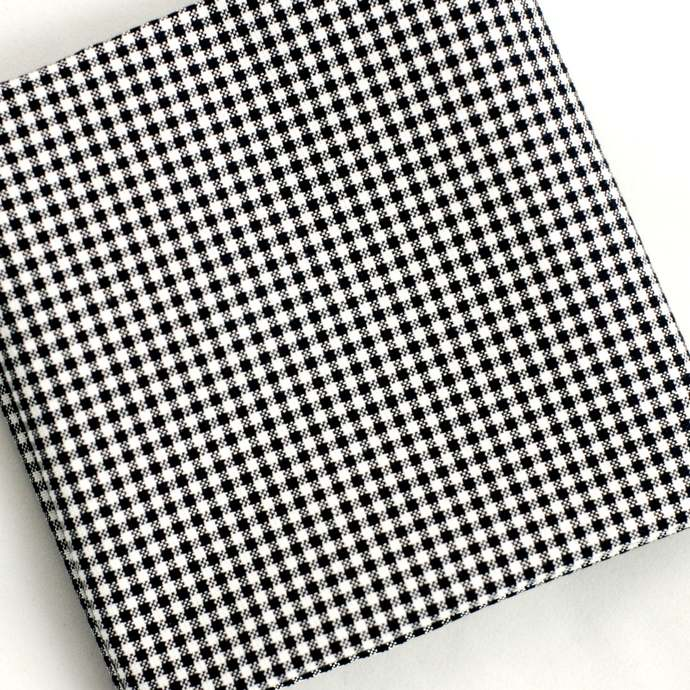 Monochrome Fat quarter fabric bundle - Bold florals checks & geometrics Black