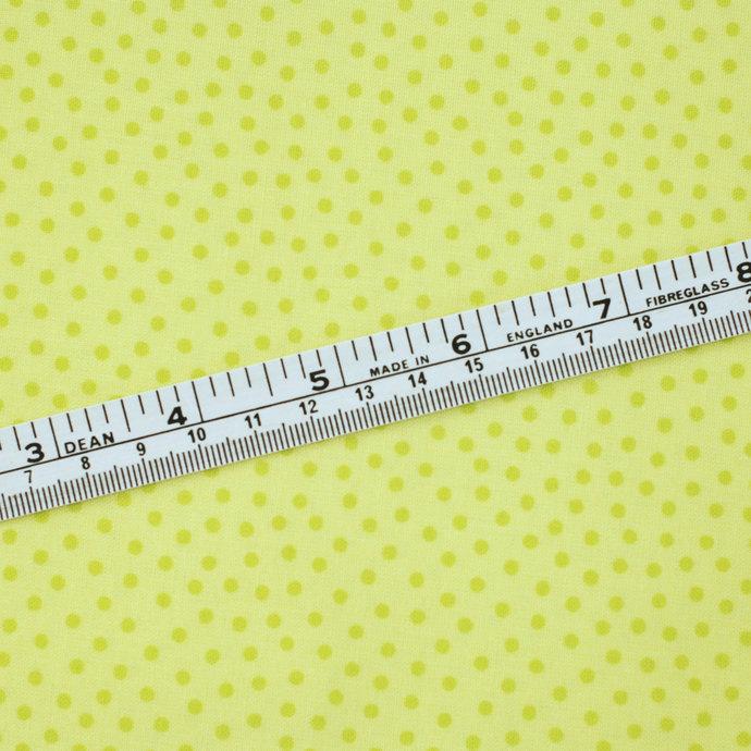 Lemon and Lime mini Dot craft fabric - half meter - 100% Organic Cotton - Baby