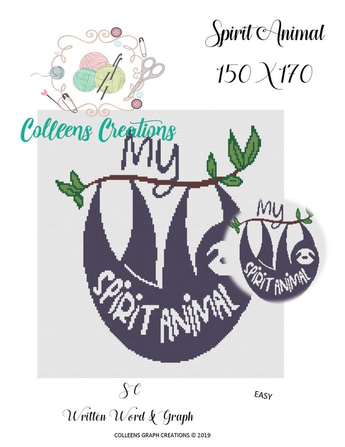 Spirit Animal Crochet Written and Graph Design