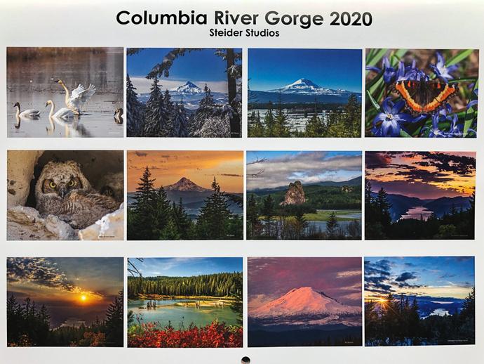2020 Calendar of Columbia River Gorge Photos