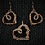 Heart Copper Pendant and Earrings Set; Wire Wrapped Woven Set (S101)