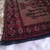 "Vintage Islamic Muslim Prayer Rug 12 1/2"" x 13"" Saudi Arabia Brown & Red"