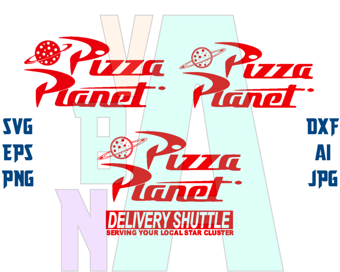 Toy Story pizza planet SVG Toy Story logo Pizza Planet Shirt Invitation Birthday