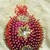 Christmas Ornament w/Red and Gold Sequins