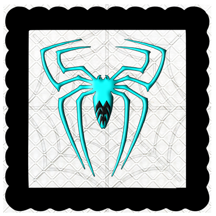 3D Color Spider 4-Digital Kit-Jewelry Tag-Clipart-Gift Tag-Holiday-Digital