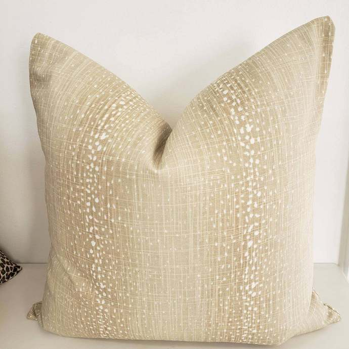 Antelope Pillow cover. Gobi colorways. Antelope Print. Pawn Print. Sofa Pillow