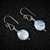 Blue Pearl Dangle Argentium Sterling Silver Earrings (E121)