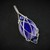Lapis Lazuli Sterling Silver Pendant  -   Wire Wrapped Jewelry  -  Blue