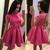 Princess Satin Black Short Homecoming Dress
