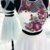 White Round Neck Two Pieces Beads Short Prom Dress, White Homecoming Dress,505
