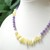 Citrine necklace with amethyst beads and citrine nuggets, color block necklace,