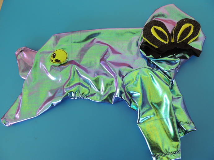 MEDIUM Alien Skin Halloween Costume