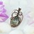Ocean Jasper Copper Pendant; Wire Wrapped Woven  (P128)