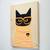 Halloween Black Cat Original Cat Folk Art Painting