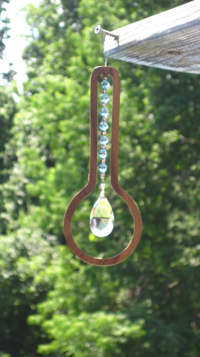 Banjo Crystal Sun Catcher; Banjo Hanging Suncatcher; Gift for Musician; Crystal