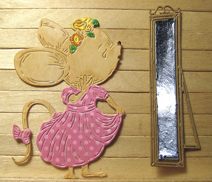 Girl Mouse Looking in Mirror Cutting Die Set