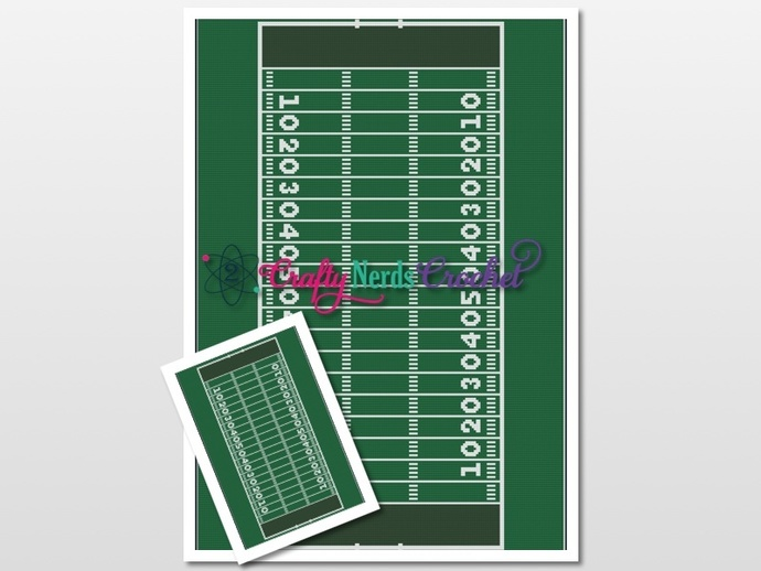 Football Field Pattern Graph with SC and TSS Written