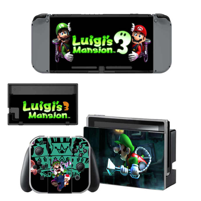 Super Mario Luigi Nintendo Switch Skin