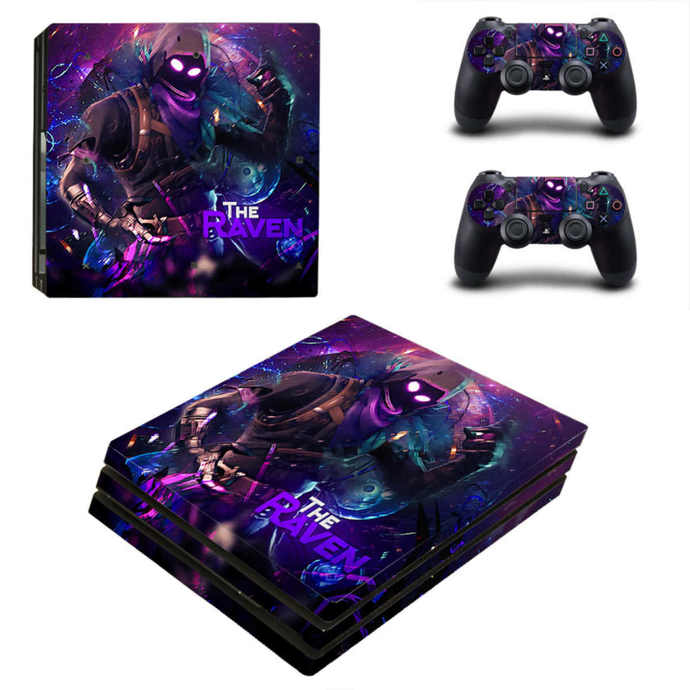 Fortnite the raven PS4 pro Skin for Playstation pro Console & Controllers