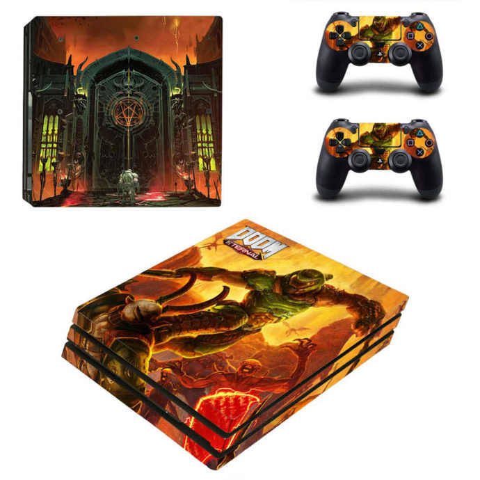 Doom Eternal PS4 pro Skin for Playstation pro Console & Controllers