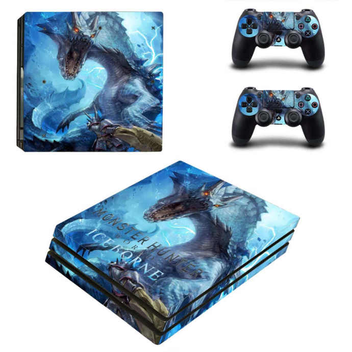 Monster Hunter World iceborne PS4 pro Skin for Playstation pro Console &