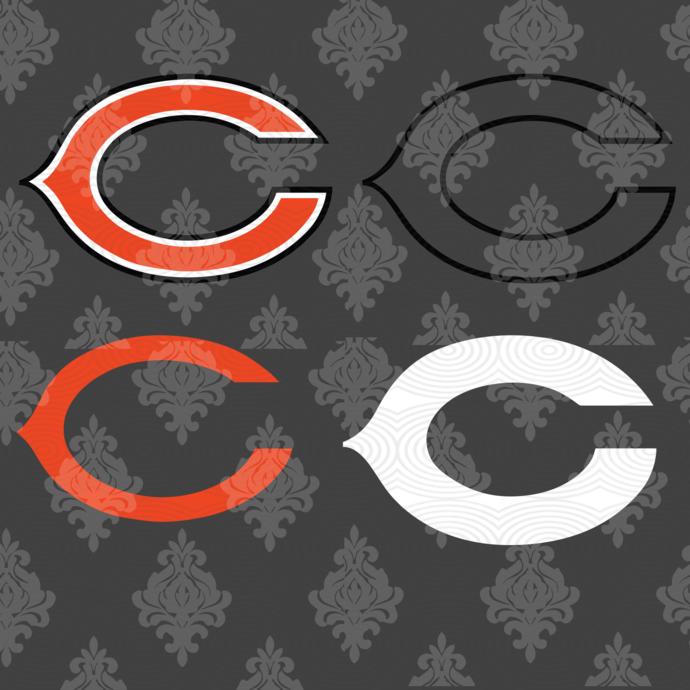 Chicago Bears,NFL svg, Football svg file, Football logo,NFL fabric, NFL