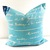 Penmanship Pillow cover. Arctic Blue  Natural French writings sham cover.