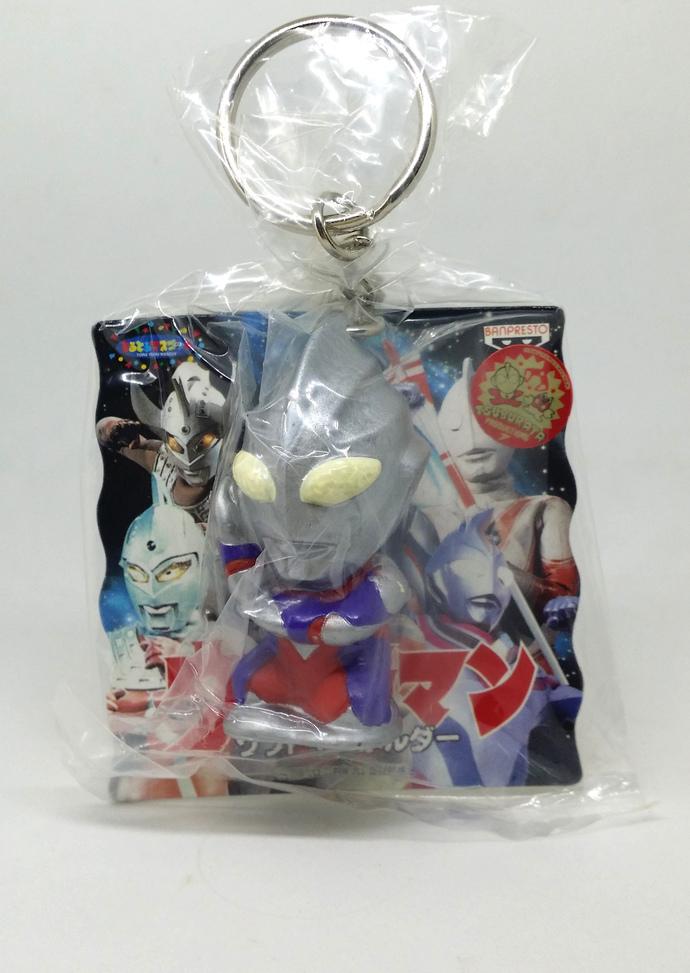 1997 Ultraman Tiga Figure Keychain / Keyholder / Charms - Japanese Anime -