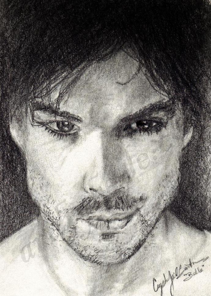"FAP ""Darkly Damon"" Vampire Diaries Fan Art"