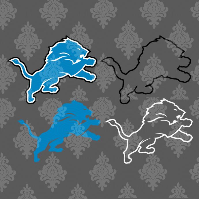 Detroit Lions,NFL svg, Football svg file, Football logo,NFL fabric, NFL