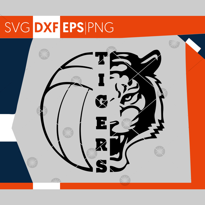 Tigers Svg Volleyball Svg Tigers Volleyball By Misanyc On Zibbet