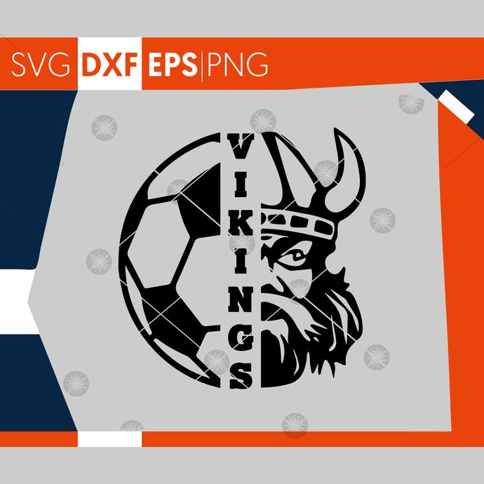Vikings SVG, Soccer SVG, Vikings Soccer T-shirt Design, Soccer Mom Shirt, Cricut