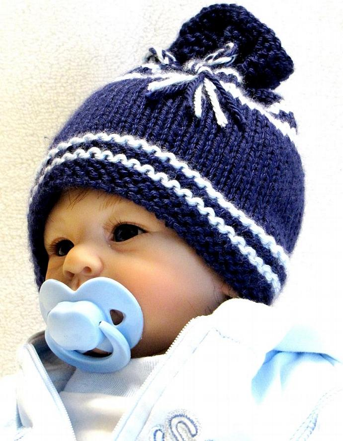 Knitting Pattern Newborn Ez Knit Baby Hat Ezcareknits