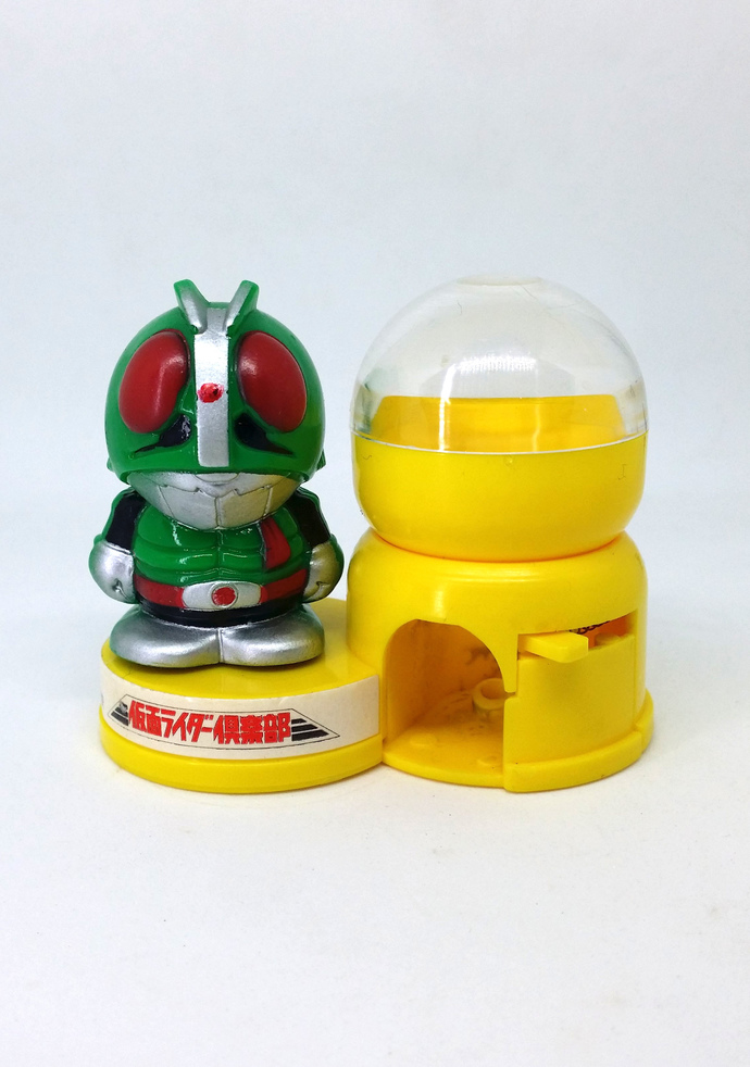 1992 Masked Rider V2 Mini Candy Dispenser - RARE Banpresto Japanese Anime Kamen