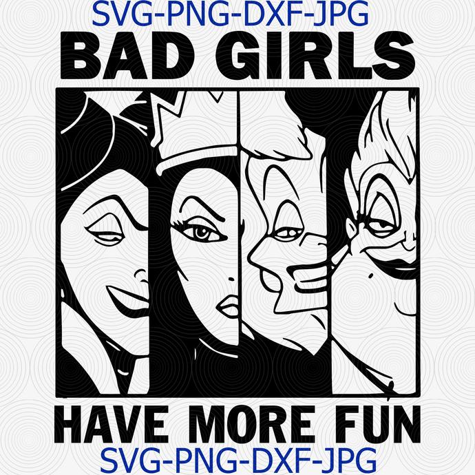 Bad Girls Club, Bad Girls Have More Fun, disney descendents, disney svg