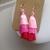 A pair of pink ombre tassel earrings