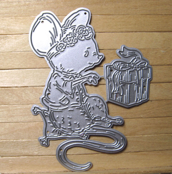 Girl Mouse and Present Cutting Die Tattered Lace