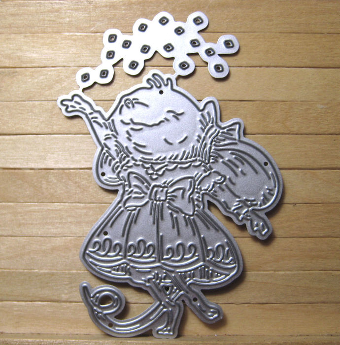 Cute Girl Mouse throwing Sparkles Cutting Die