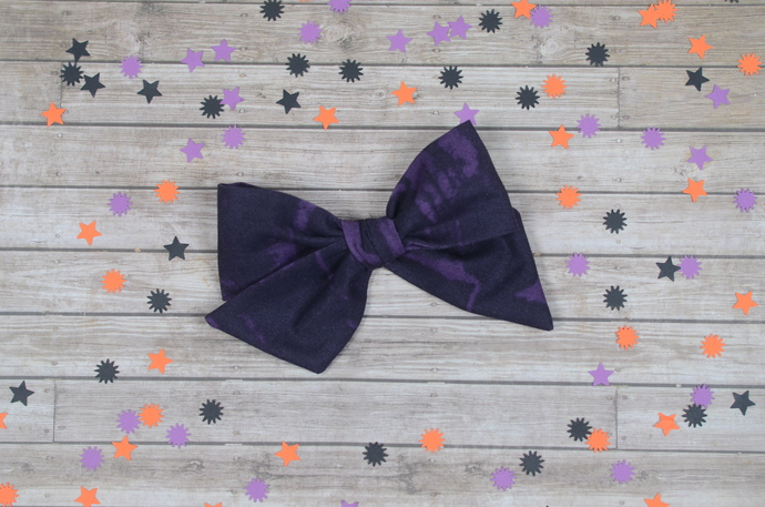 Large Lizzy Bow - Halloween Collection - Potion