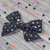 Large Lizzy Bow - Halloween Collection - Midnight