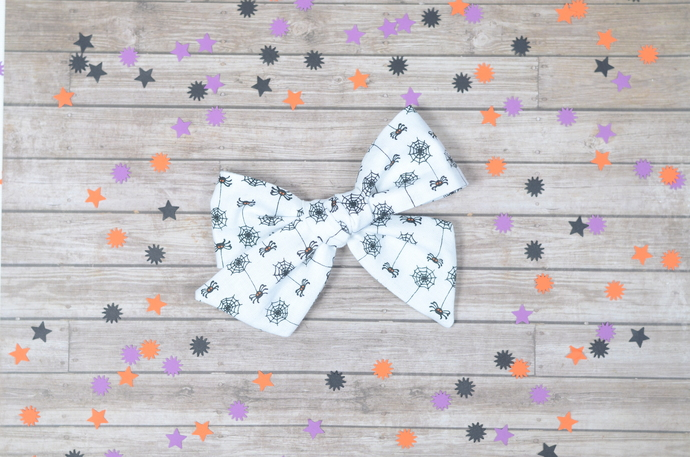 Large Lizzy Bow - Halloween Collection - Spidey