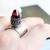 Red Bullet Ring, Tuareg Inspired Bohemian Statement Red Quartz Bullet Sterling