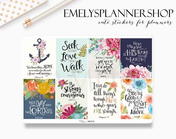 Bible Verse Sticker - Christian Stickers - Agenda Stickers  1010