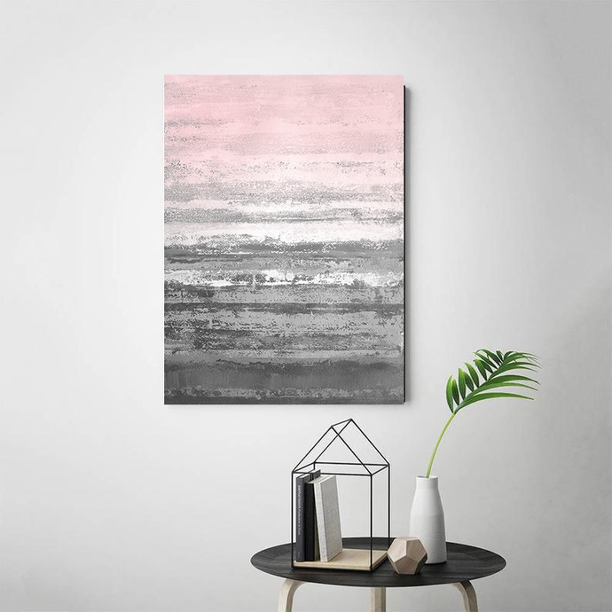 Printable Art, Art Poster, Digital Download, Wall Decor, gray and pink, modern